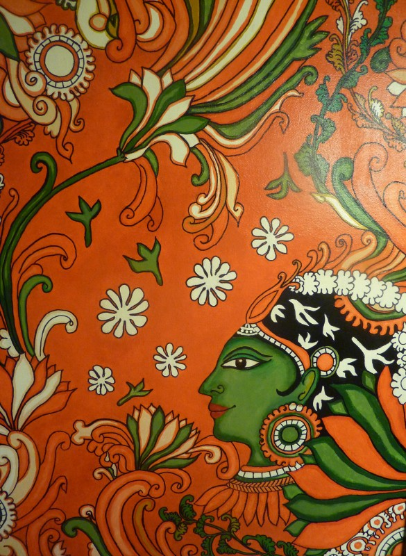Kerala mural painting tutorial for the non painter for Cn mural designs