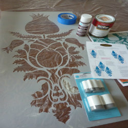how to stencil walls
