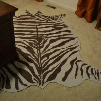 Drop Cloth Zebra Hide Rug