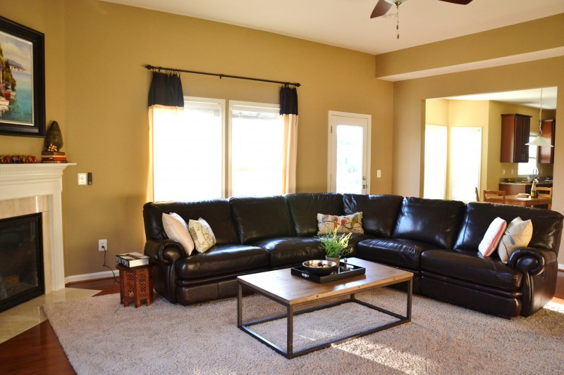 Whats Ur Home Story: Neutral Family Room, Sherwin Williams Latte