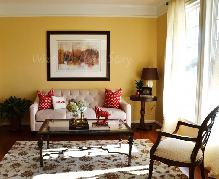 Whats Ur Home Story: Living Room Decor, Sherwin Williams August Moon