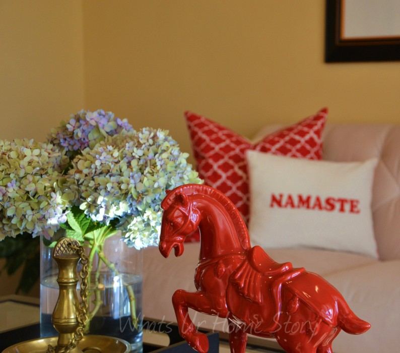 Whats Ur Home Story :coffee table decor, red accents, Chinese Horse