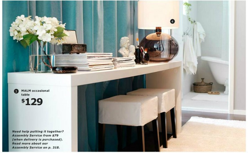 The ikea catalog whats ur home story for Ikea console table malm