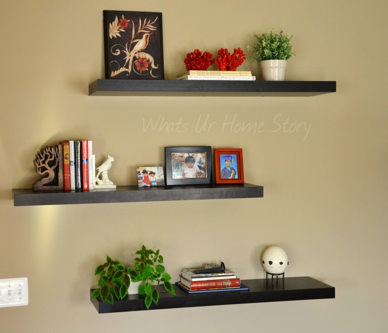 Unique Floating Wall Shelves : The Family Room The Other Half Whats Ur Home  Story