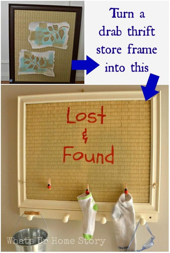 thrift store art makeover, laundry room art, laundry room sign