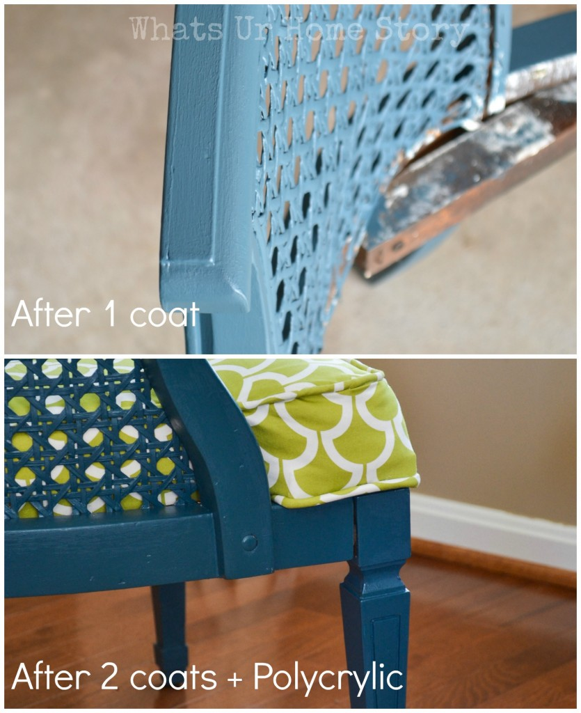 how to paint a cane chair whats ur home story. Black Bedroom Furniture Sets. Home Design Ideas