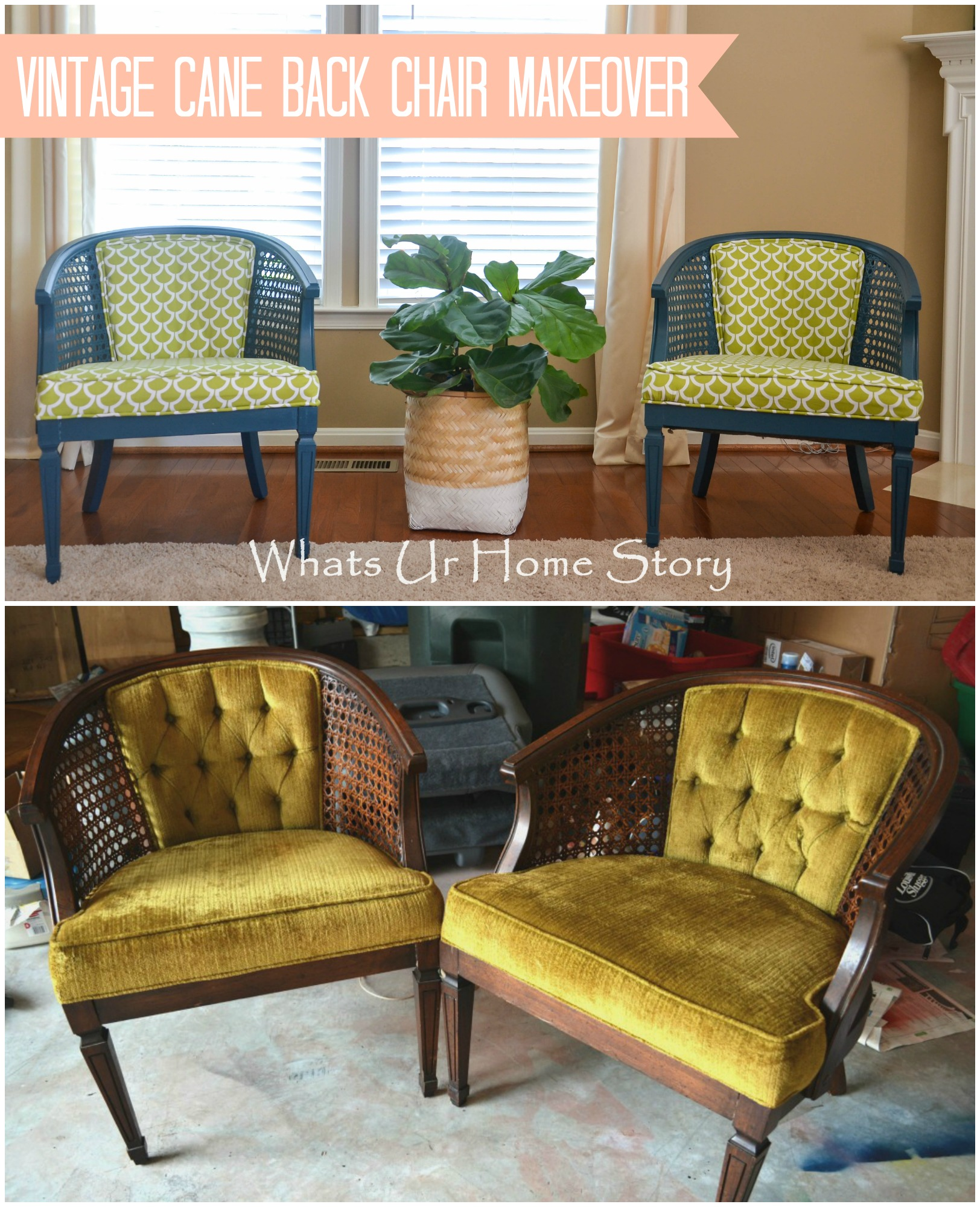Antique Cane Chair Makeover