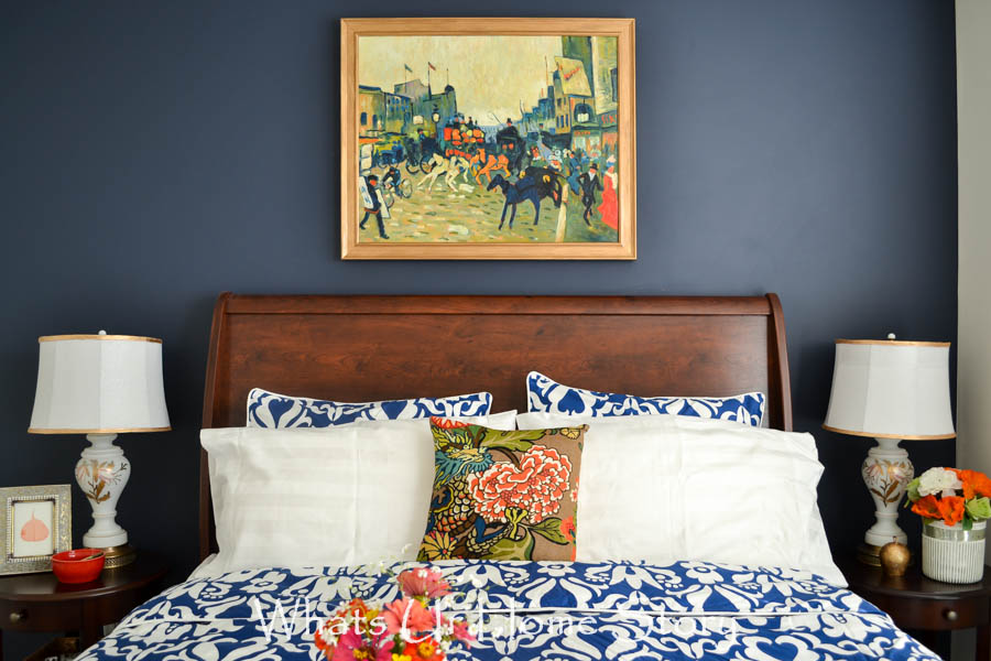 Navy And Coral Bedroom Whats Ur Home Story